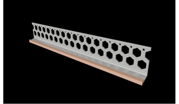 15mm brick red PVC bellcast bead