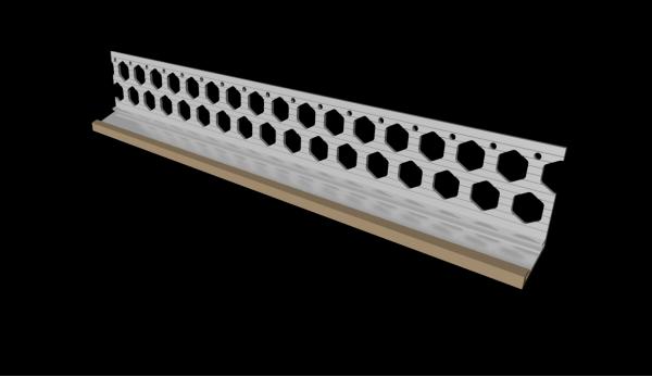 20mm wheat brown PVC bellcast bead
