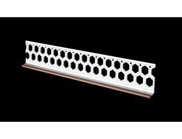 10mm brick red PVC bellcast bead