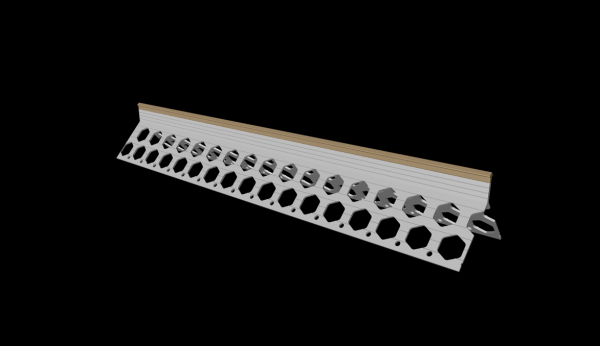 15mm wheat brown PVC corner bead