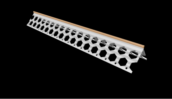 6mm peach PVC corner bead