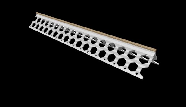 6mm wheat brown PVC corner bead