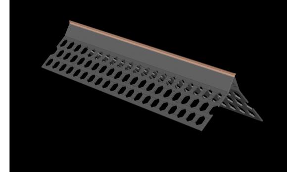3.0m 10mm brick red PVC wide wing corner bead