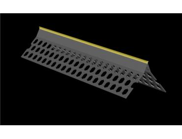 3.0m 10mm maize yellow PVC wide wing corner bead