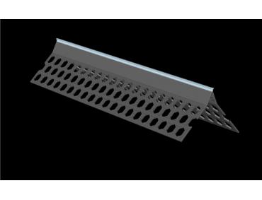 3.0m 10mm sky blue PVC wide wing corner bead