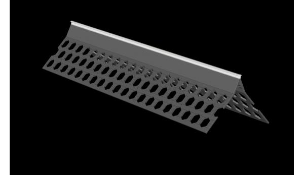 3.0m 10mm white PVC wide wing corner bead