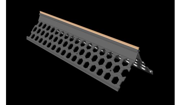 3.0m 15mm peach PVC wide wing corner bead