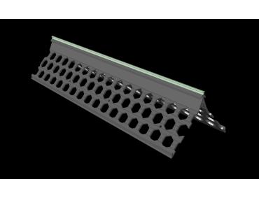 3.0m 15mm willow green PVC wide wing corner bead