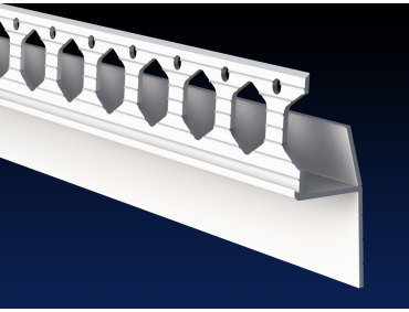 PVC architrave shadow gap 'L' profile