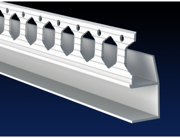 PVC architrave shadow gap 'U' profile