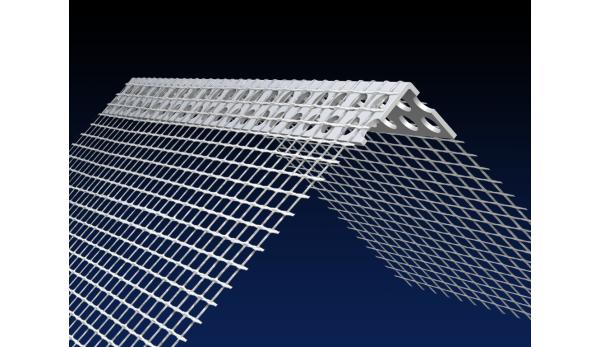 PVC EWI corner bead 150x100mm mesh