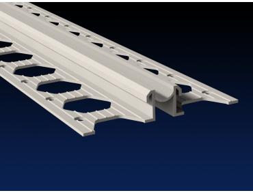 10mm dove grey PVC movement joint