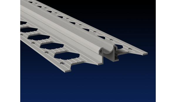 10mm slate grey PVC movement joint