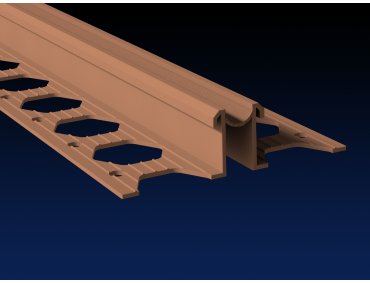 15mm terracotta PVC movement joint