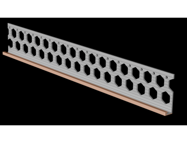 10mm brick red PVC render stop bead