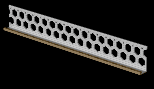 15mm wheat brown PVC render stop bead