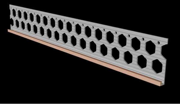 6mm brick red PVC render stop bead