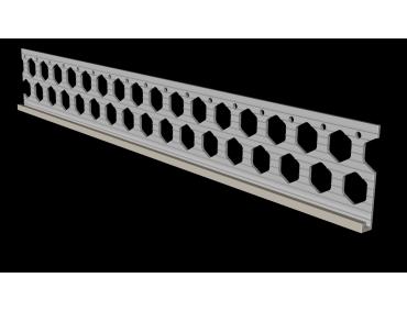 6mm dove grey PVC render stop bead