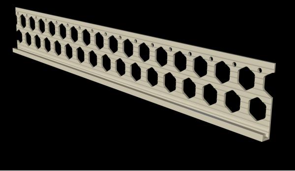 6mm ivory cream PVC render stop bead