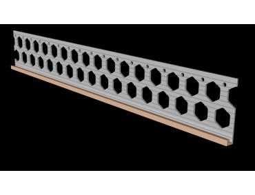 6mm salmon pink PVC render stop bead