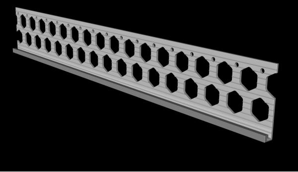 6mm slate grey PVC render stop bead