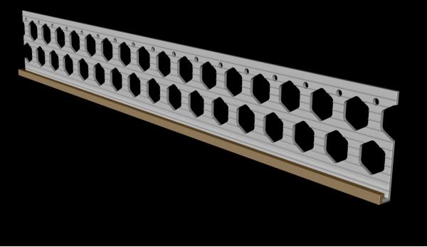 6mm wheat brown PVC render stop bead