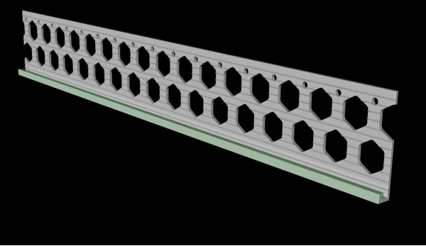 6mm willow green PVC render stop bead