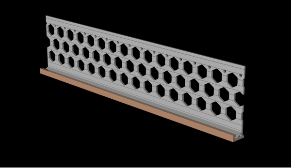 3.0m 15mm brick red PVC wide wing render stop bead