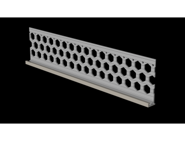 3.0m 15mm dove grey PVC wide wing render stop bead