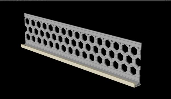 3.0m 15mm ivory cream PVC wide wing render stop bead