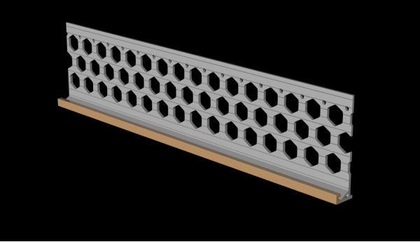 3.0m 15mm peach PVC wide wing render stop bead
