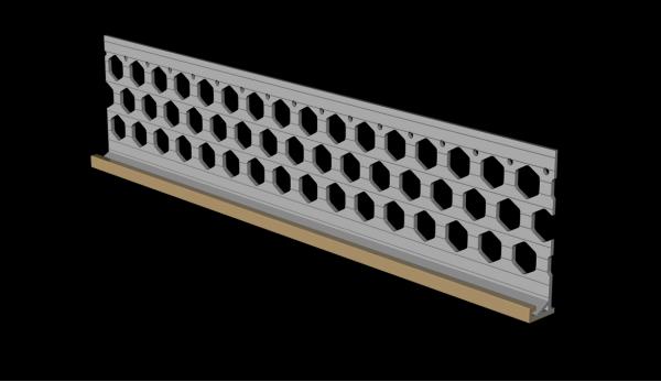 3.0m 15mm wheat brown PVC wide wing render stop bead